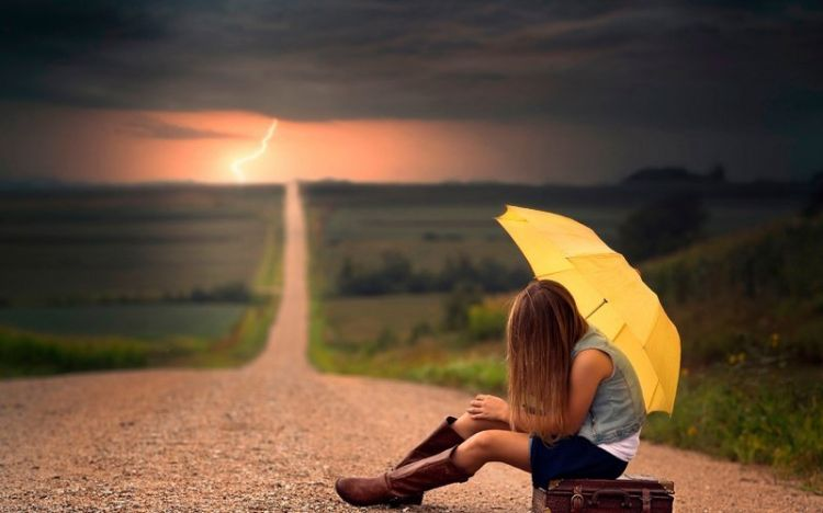 Camino en solitario