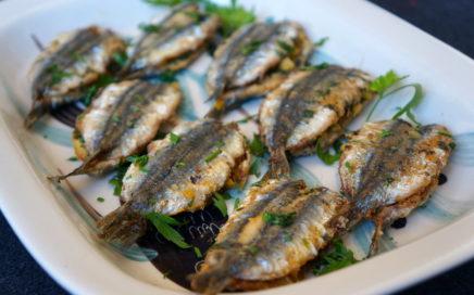 Boquerones o sardinas al horno con adobo moruno