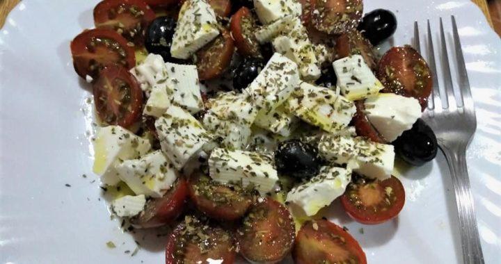 Capricho de tomate ensalada caprese