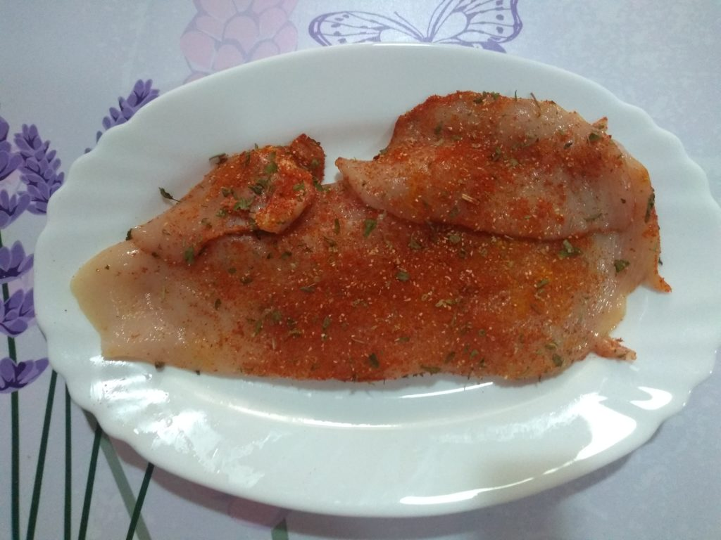 filetes de pollo adobados a la plancha