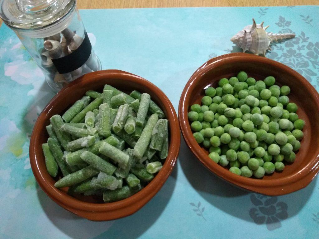Judías verdes y guisantes