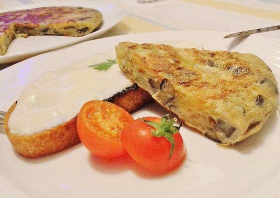 Tortilla de patata y calabacín light