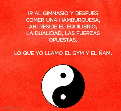 El gym y el ñam, perfecto equilibrio kármico
