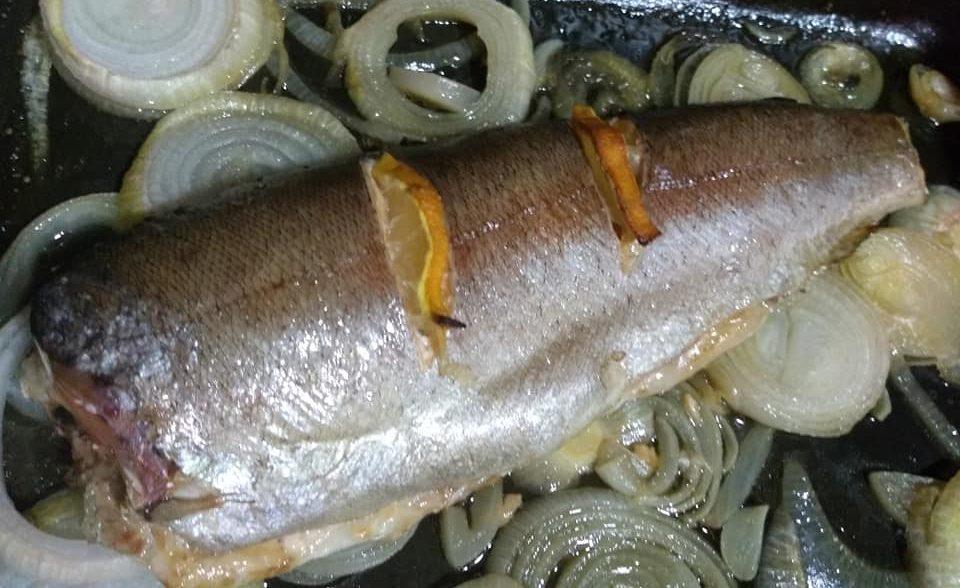 Trucha al horno