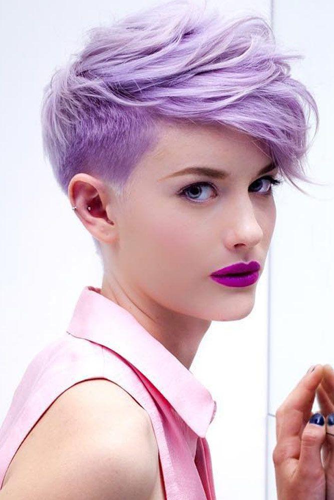 pixie corto violeta