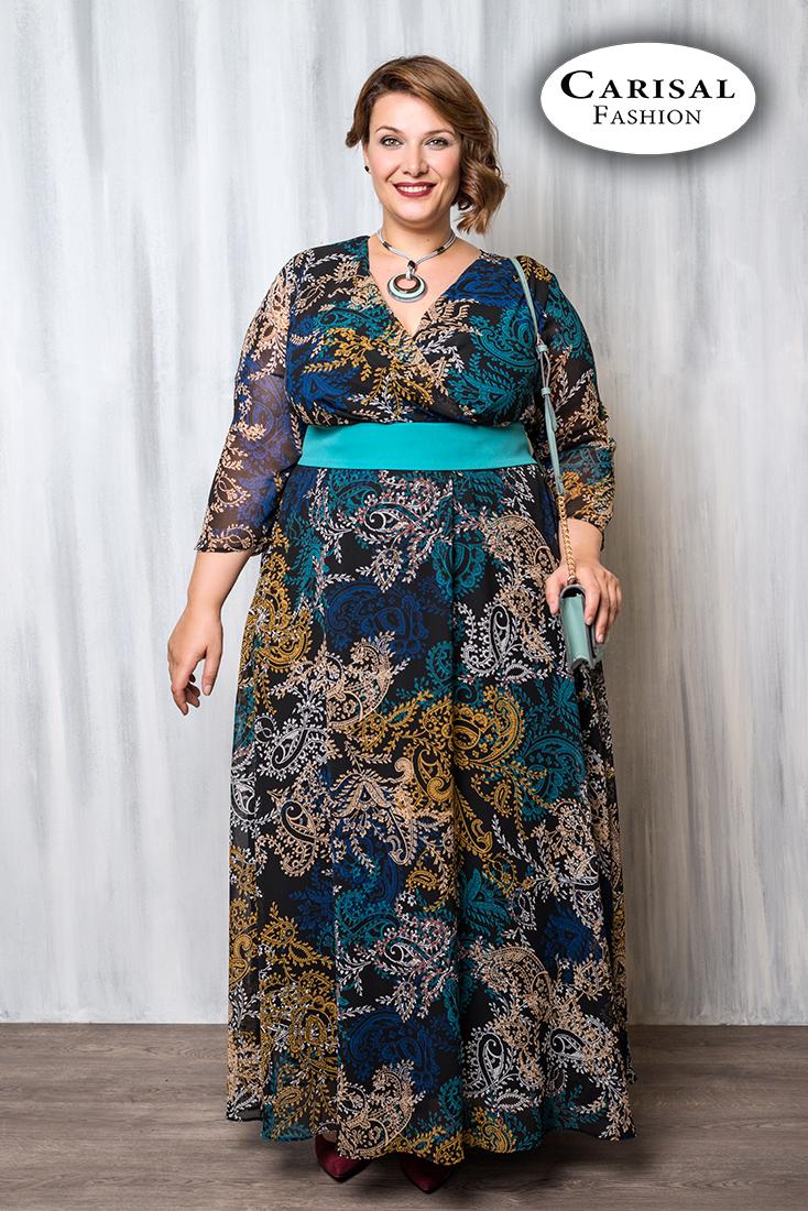 Bellezas con gran elegancia Vestido maxi con estampado