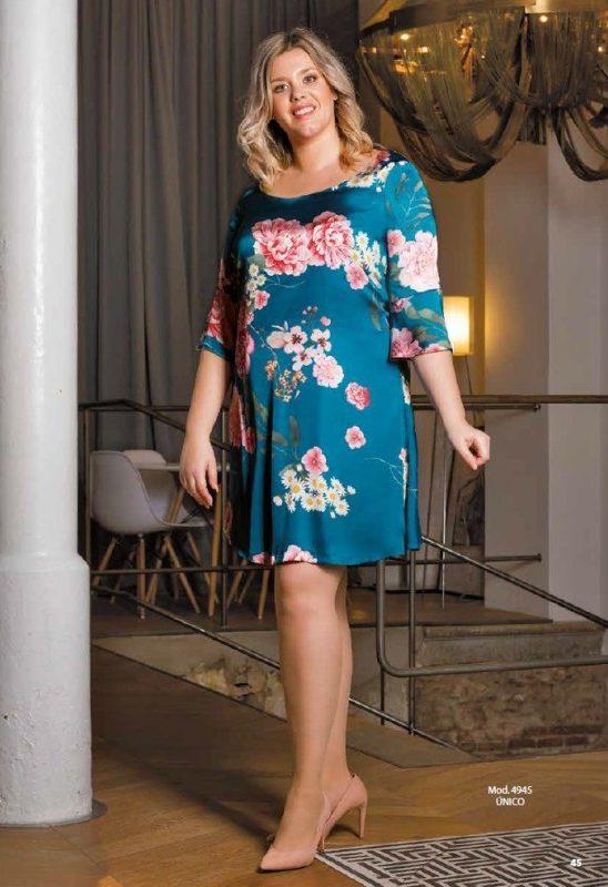 Bellezas con gran elegancia Vestido raso media manga