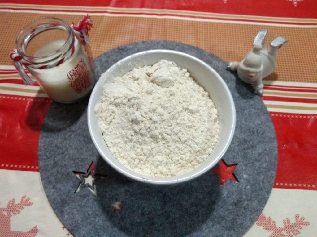 Harina blanca para el bizcocho