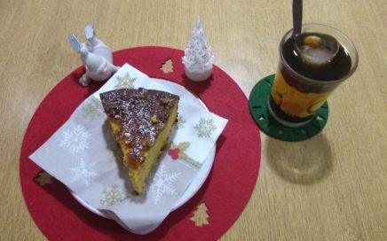 Bizcocho navideño de calabaza y manzana