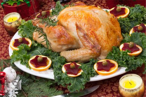 Pollo asado. No engordar en Navidad ¡misión imposible!