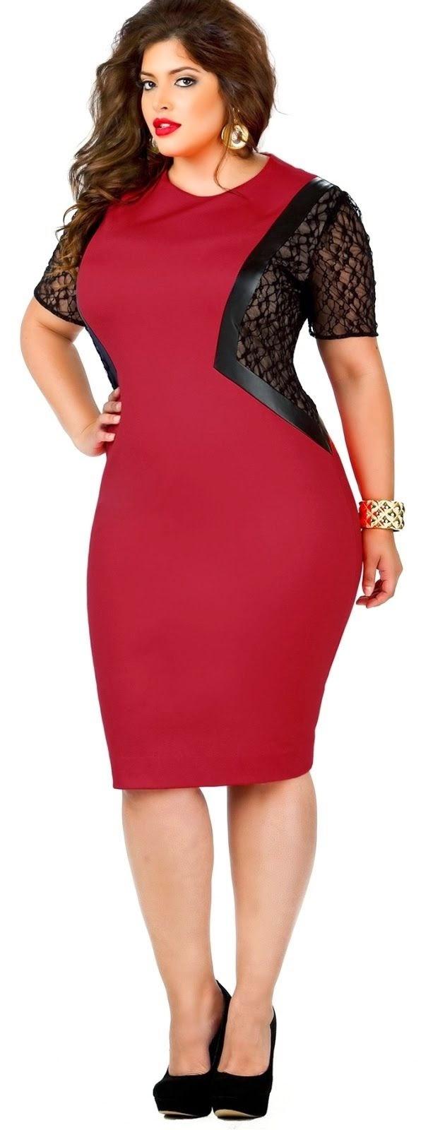 Vestido rojo y negro ajustado Vestidos para Nochevieja a lo grande