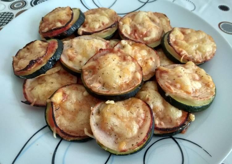 Minipizzas con jamón de de pavo