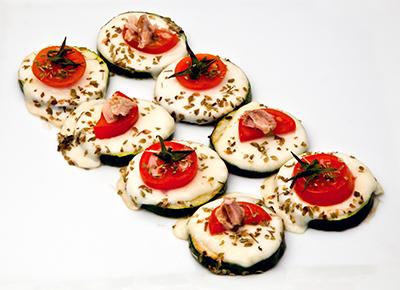 Minipizzas con mozzarella