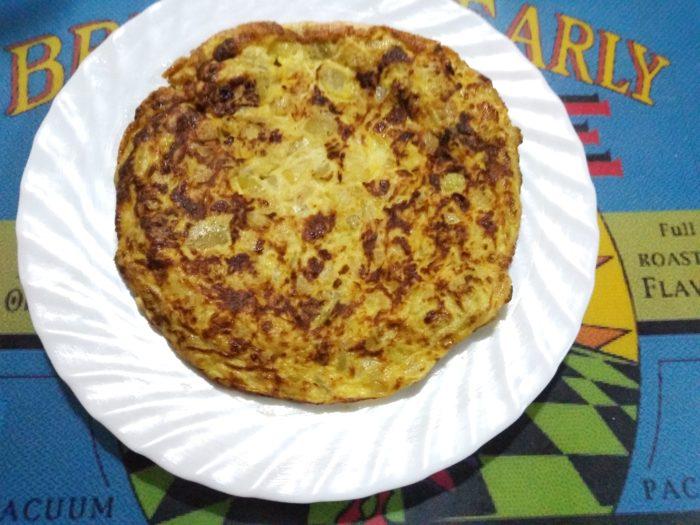 Tortilla de calabacín, ¡qué placer tan sano!