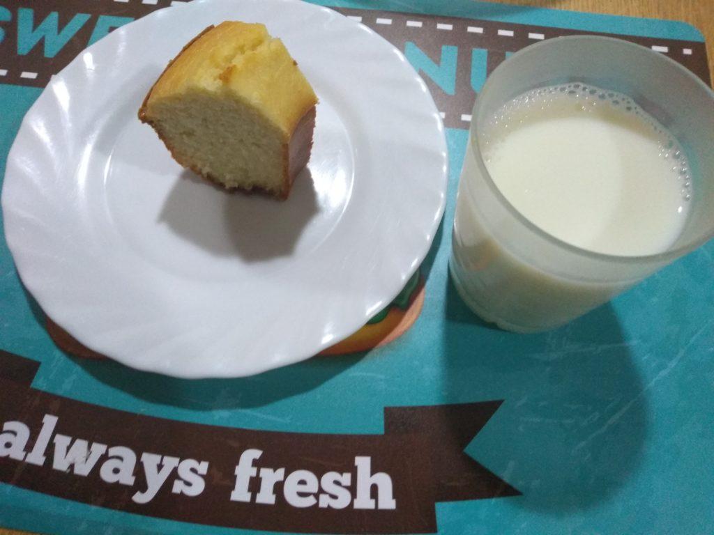 Bizcocho de coco sin gluten ni azúcar para desayunar