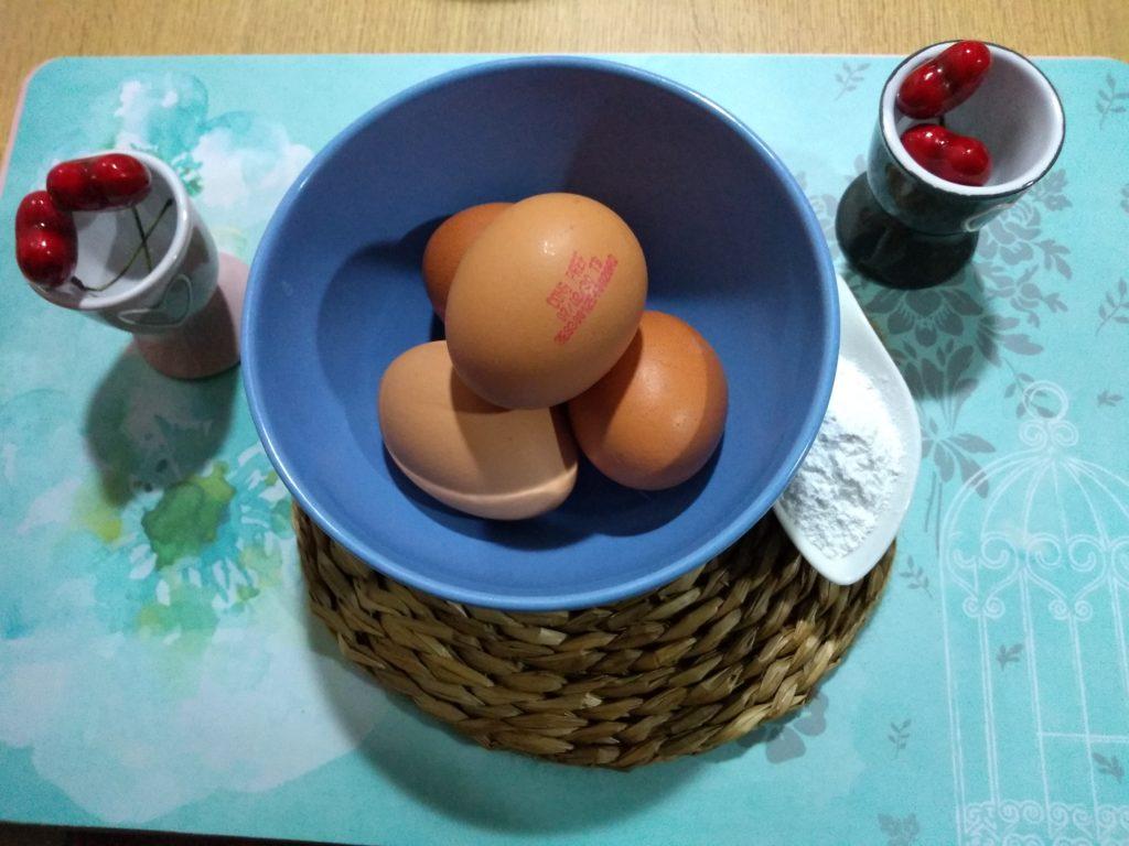 huevos Bizcocho de coco sin gluten ni azúcar