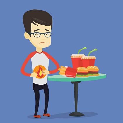 Problemas digestivos con el fast food
