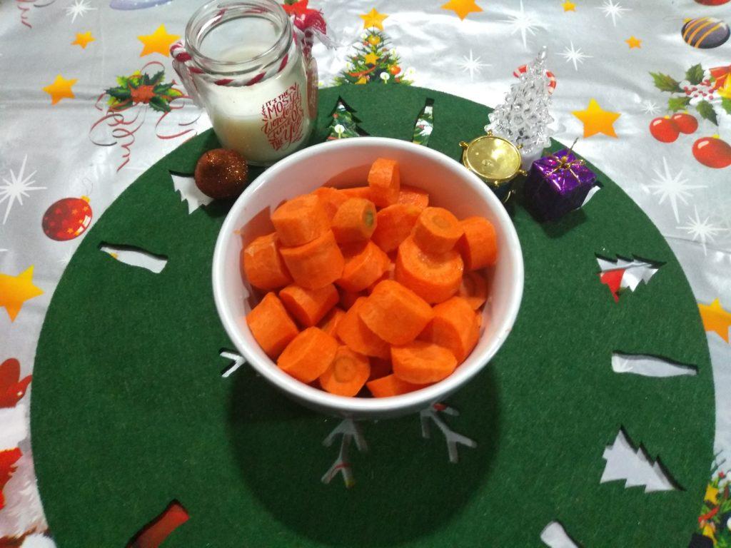 Zanahoria en trozos Rollo de carne picada relleno en Reyes