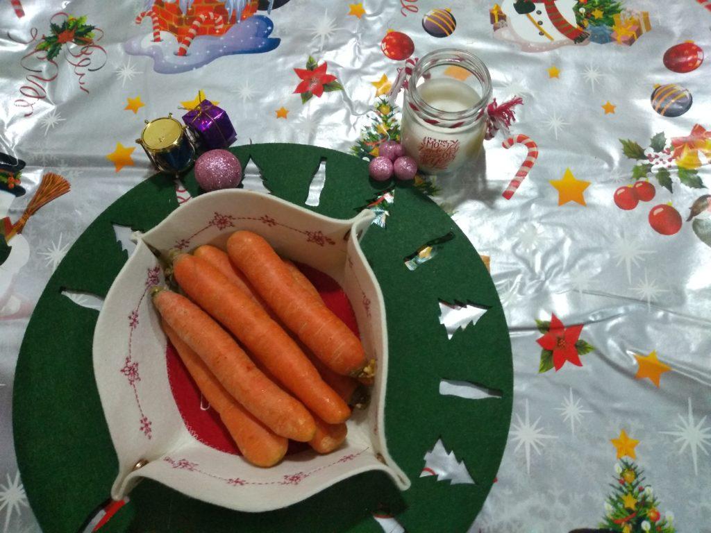 Zanahorias para la salsa Rollo de carne picada relleno en Reyes