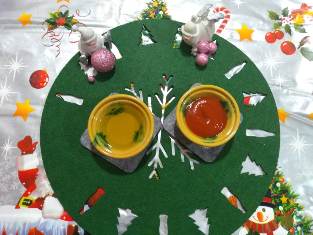 Salsa de tomate y aceite de oliva