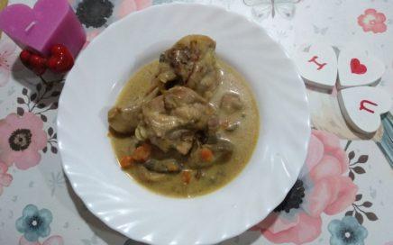 pollo con setas provenzal para enamorar