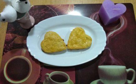 Corazones de naranja el día de los enamorados