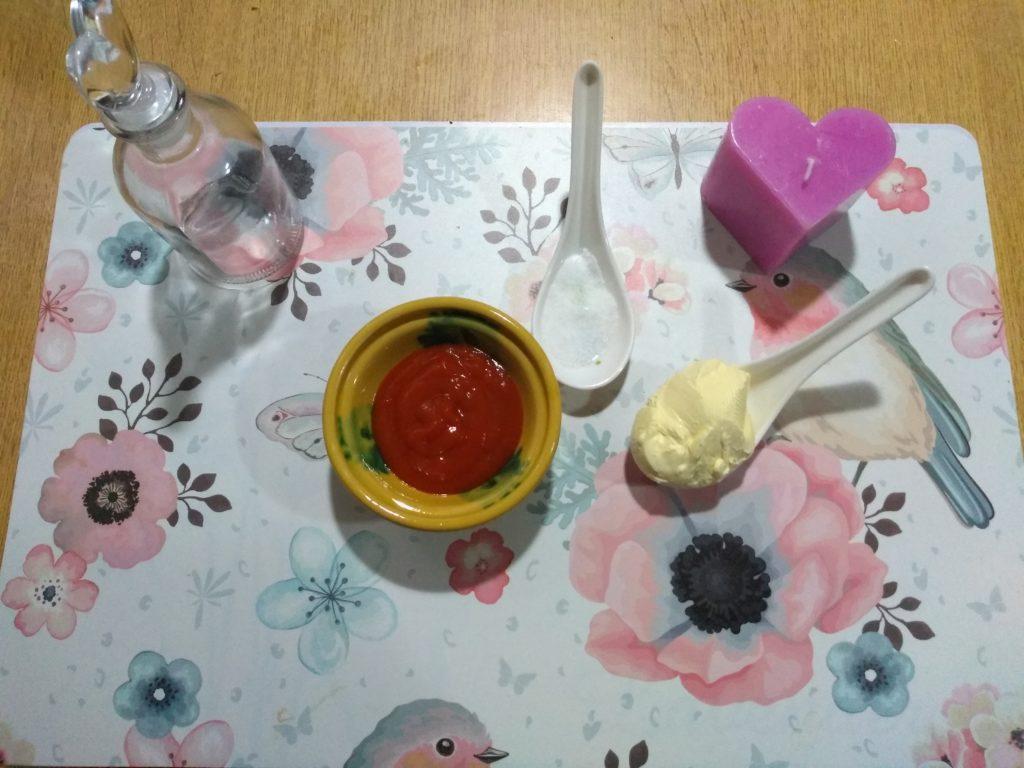 Tomate, sal y margarina