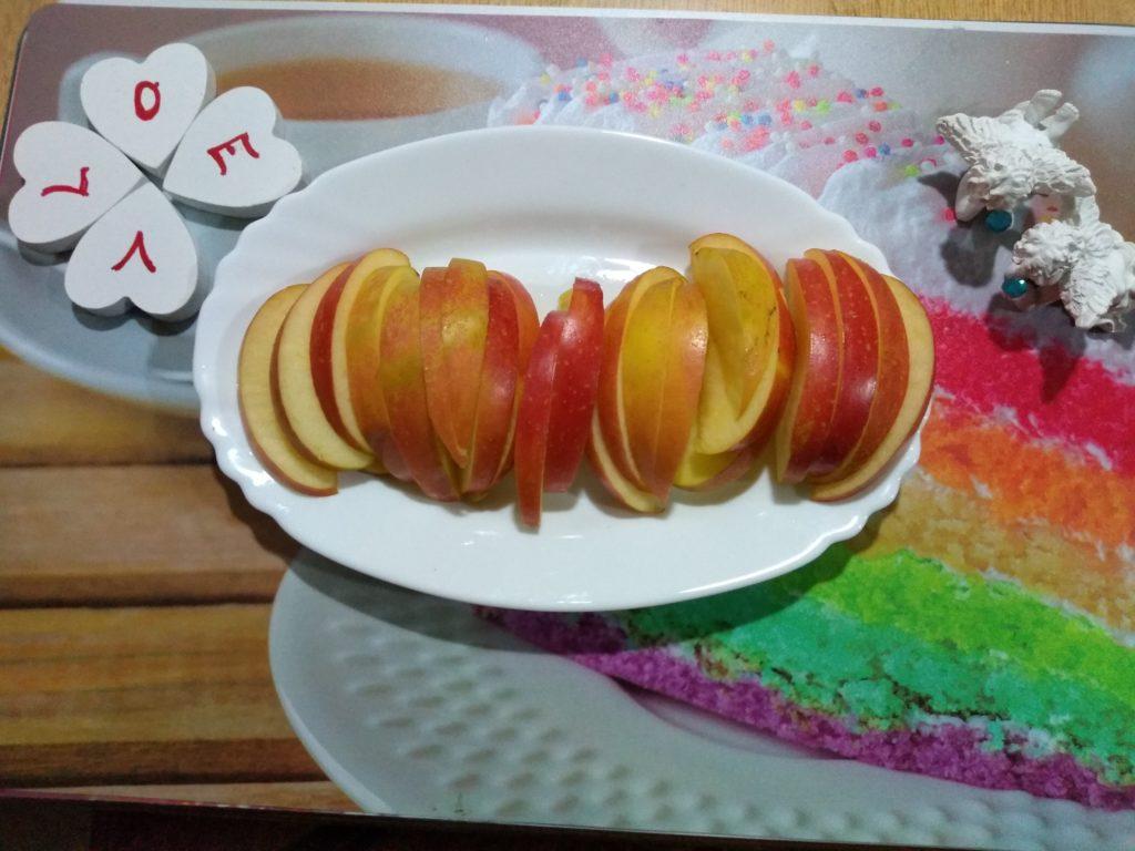 Manzana en láminas