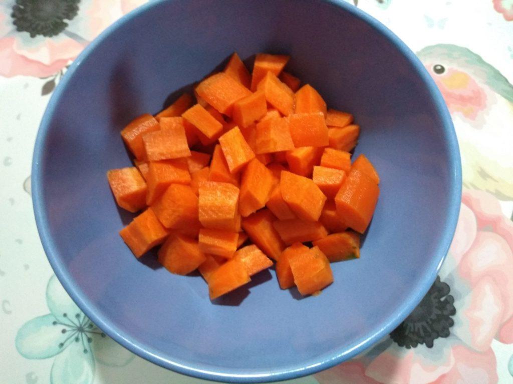 Zanahoria cortada