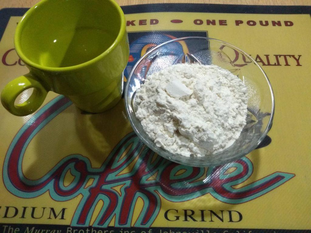 Una taza de harina