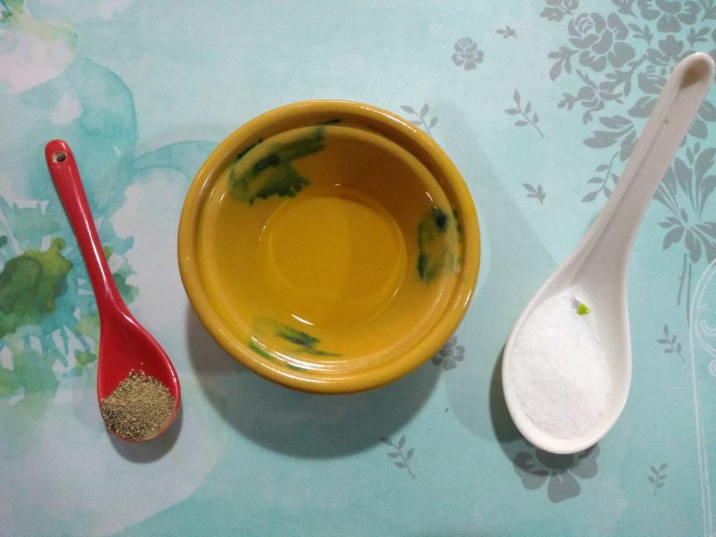 Aceite sal y pimienta