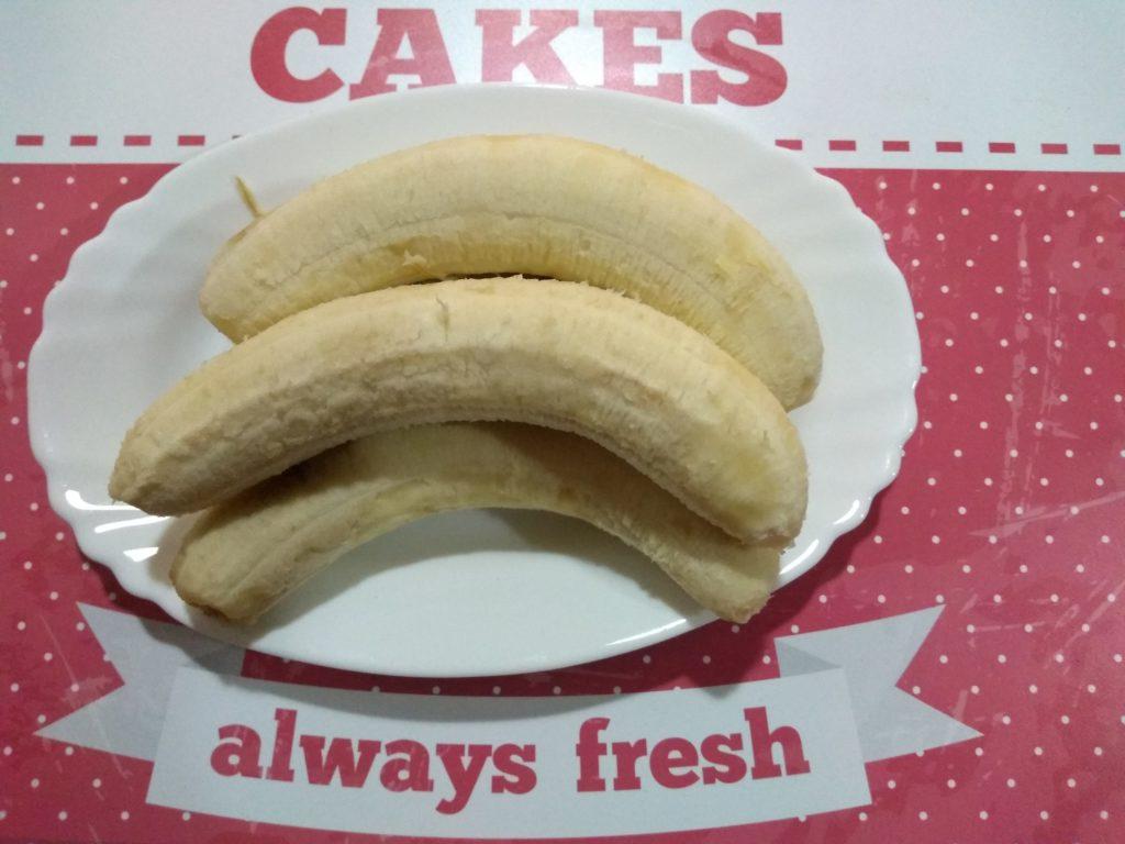 Bizcoflán de plátanos maduros