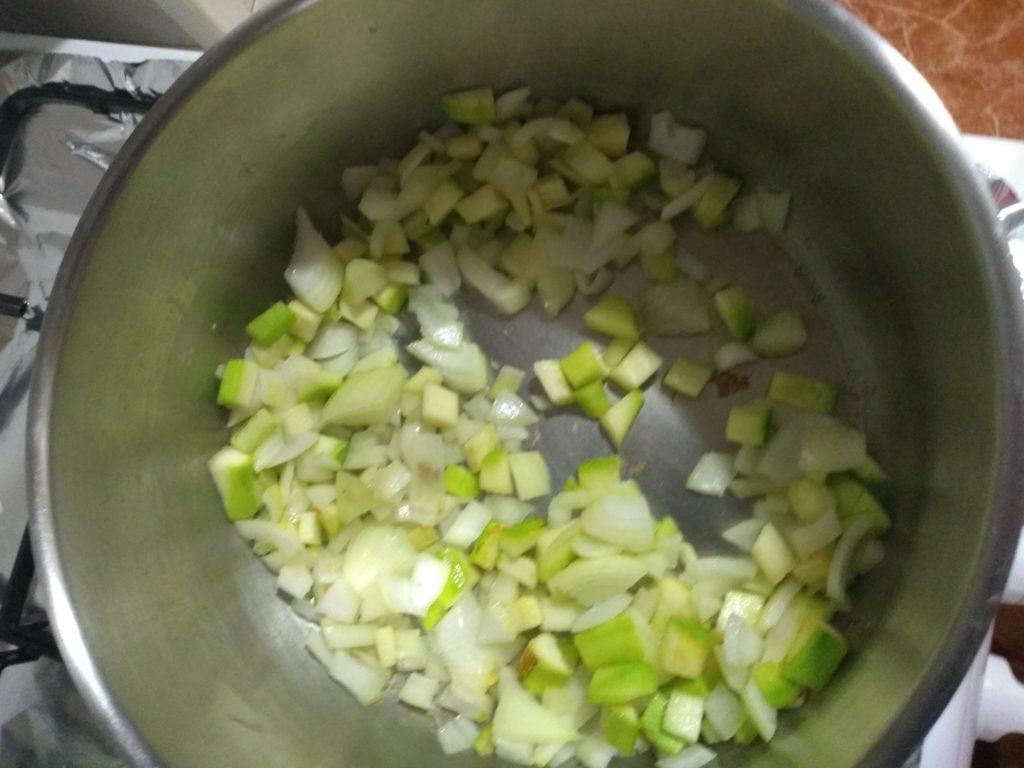 Las verduras salteadas