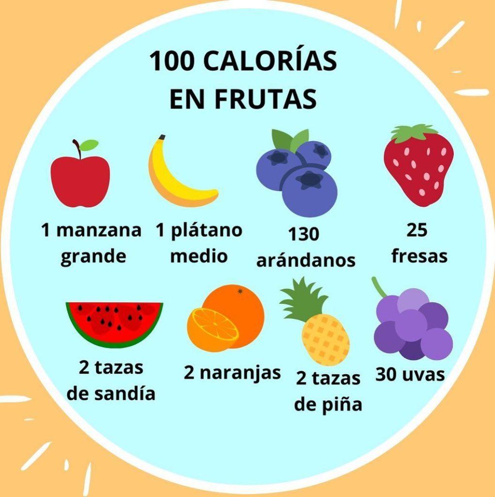 100 calorías en fruta
