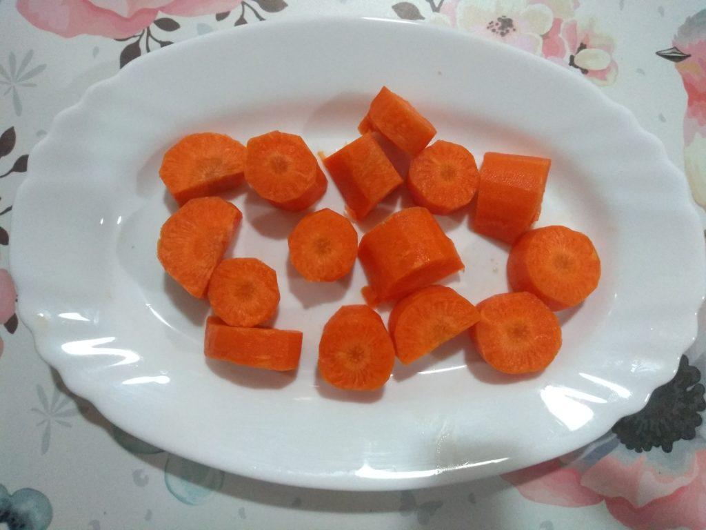 zanahoria troceada