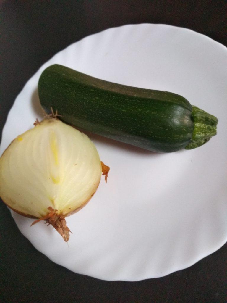 cebolla y calabacín