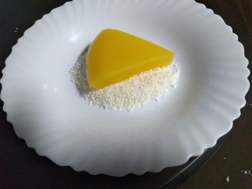 Triángulos de naranja y coco light